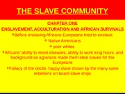 POWER POINT THE SLAVE COMMUNITY [Autosaved].pptx