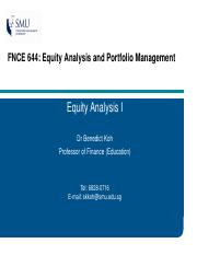 FNCE644_Lecture 5 Equity Analysis I_handout_BK.pdf