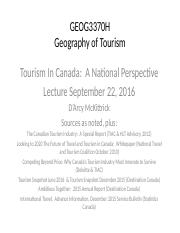 Tourism in Canada (Sept 22 2016 Lecture).pptx
