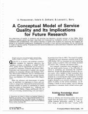 A Conceptual Model of Service Quality and Its Implications for Future Research