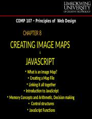Chapter 8-Image Maps & JavaScript