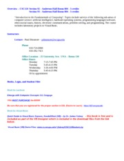 CSC110 Syllabus - Fall 2011