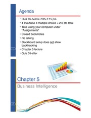 Chapter 5 Business Intelligence