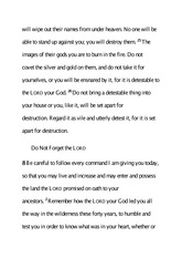 The Command to Leave Horeb 40