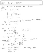 11.8 Lagrange Multipliers