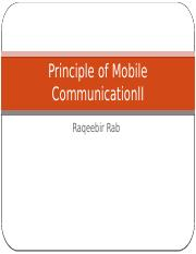 CSE4255Principle of Mobile CommunicationII