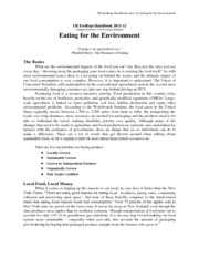 Chapter 04 - Eating for the Environment