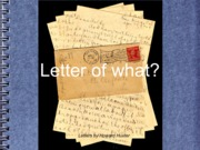 3.2. Letter Writing - types