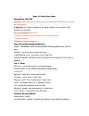 MUS 110 NOTES: Music 110 Fourth Exam Notes