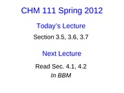 Lecture 9 CHM111 Student Slides