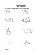 volume compound shapes homework - Find the volume of each ...