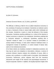 Commons_INSTITUTIONAL ECONOMICS