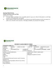 Care Plan Packets- Fundamentals(2).docx