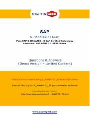 How To Pass SAP C_HANATEC_15 Exam Test In First Attempt.pdf