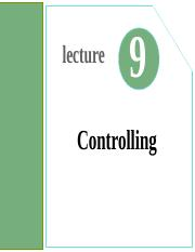 Lecture09- Controlling.ppt
