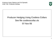 Producer Costless Collar