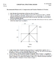 Homework 2 - Tension and Compression Members & Torsion(2)