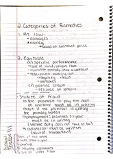 Categories of Remedies Notes