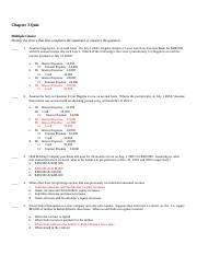 Chapter 4 Financial Quiz - Key.docx