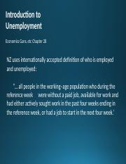 #15 Chap 28 - Introduction to Unemployment - corrected