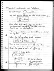 Section 1.2 - Integrals as General and Perticular Solutions