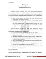 modul 14 database recovery