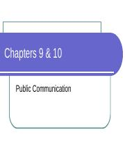 Student PPT - 1109 - Ch 9 and 10 Public