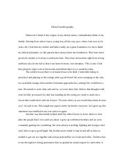 autobiography short essay