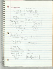 Elementary Algebra II Substition and Elimination Notes