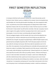 FIRST SEMESTER REFLECTION ESSAY (1).docx