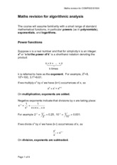 exponents,powers,logarithms