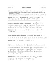 Exam 1 Solutions Fall 2011
