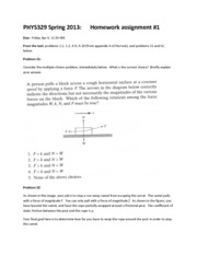 HW1 assignment 329 Spr 2013