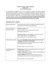 MGMT 321 Exam 2 Review Worksheet_Motivation