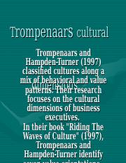 Trompenaars cultural dimensions.ppt