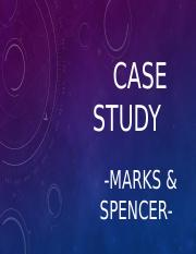 case study mark and spencer