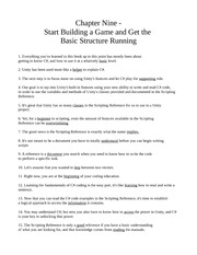 Chapter Nine - Start Building a Game and Get the Basic Structure Running