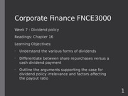 Fin Corp Week 7 Lecture