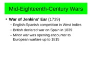 Chapter 16-Mid 18th Century Wars