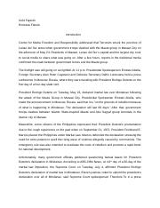 federalismdocx   federalism thesis statement the