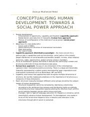 2. Ananya Mukherjee Reed- Conceptualising Human Development Towards a Social Power Approach.docx
