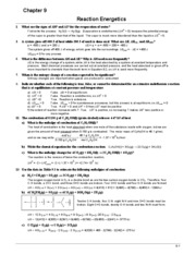 Chem 101 Book Answers (Ch.9)