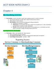 ACCT 2101 Exam 2 Book Notes