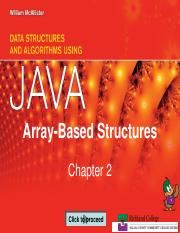 Chapter 2_Array-Based Structures