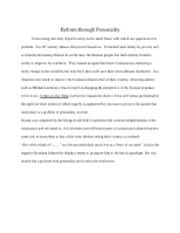 Reform through Personality Essay