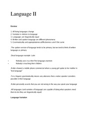 Ling 370 Ch 2 Language and Meaning Part II Outline