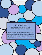 Course Manual 1B03 WINTER 2017