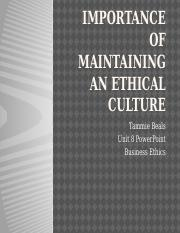 Unit 8 Business EthicsMaintaining Ethical Culture PPT.pptx