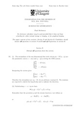 Answers to Fluid Mechanics 2013 Degree Examination Paper (Solutions)