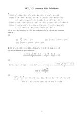 MATH 0C1 Spring 2014 Final Exam Solutions